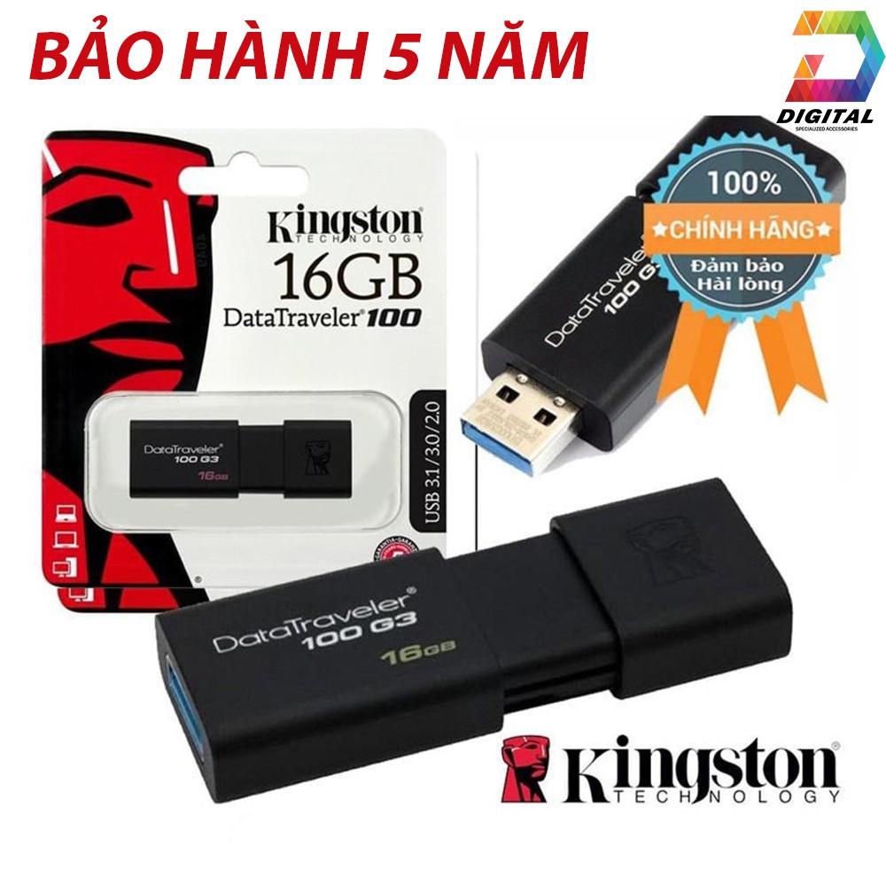 USB Kingston 16GB 3.0 Chính Hãng