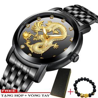 Đồng hồ nam mặt chạm rồng BIDEN B2045 day hợp kim thép không gỉ cao cấp + Tặng vòng tay tỳ hưu thumbnail