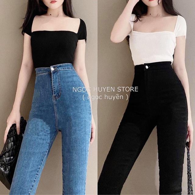 [Mã WASEPRN hoàn 20% xu đơn 99k] Quần jeans co giãn cạp cao(2m)