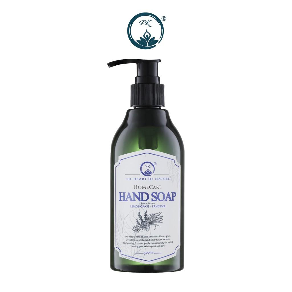 Nước rửa tay tinh dầu thảo mộc PK 300ml - kết hợp tinh dầu Tràm Trà, thành phần hữu cơ, an toàn da tay