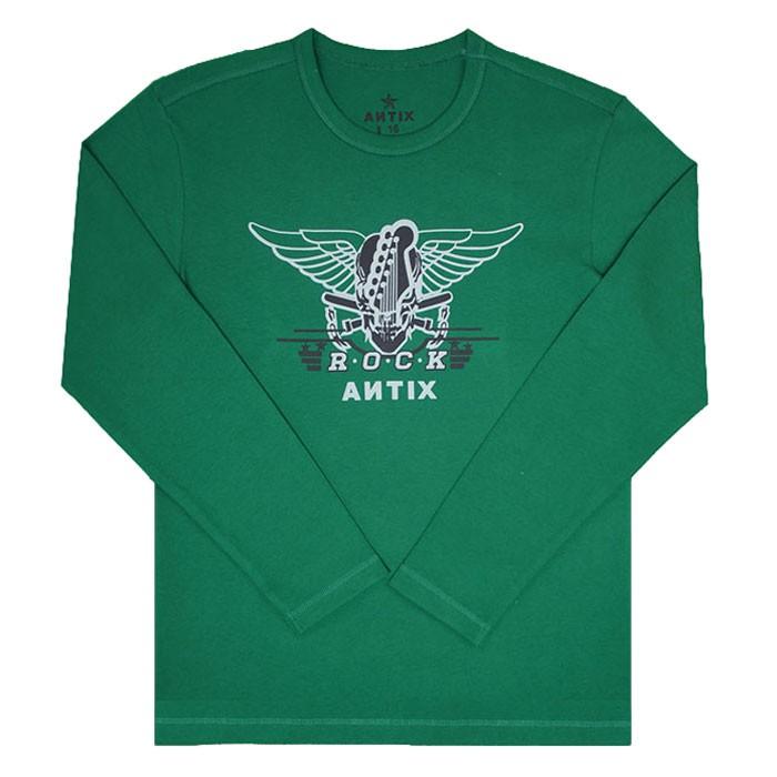 Áo thun Antix dài tay màu xanh lá