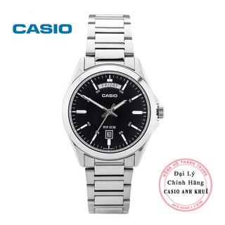 Đồng hồ nam casio MTP-1370D-1A1V dây kim loại mặt đen