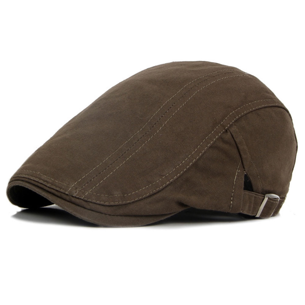 Men Hats Free Size Soft Breathable Autumn Winter Fashion British Style Outdoor Caps Solid Flat Adjustable