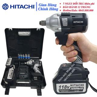 Máy siết bulong hitachi 118V 2 Pin không chổi than 100% dây đồng