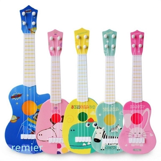 Toy Kids Toy Guitar 4 String,17 Inch Baby Kids Cute Guitar Rhyme Developmental Musical Instrument Educational Toy