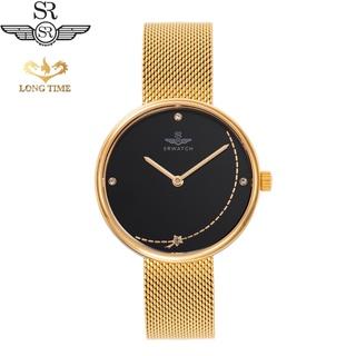 Đồng hồ nữ SRWATCH chính hãng SL5008.1401BL mặt kính sapphire mạ vàng đính đá kim cương chống trầy chống nước 50m thumbnail