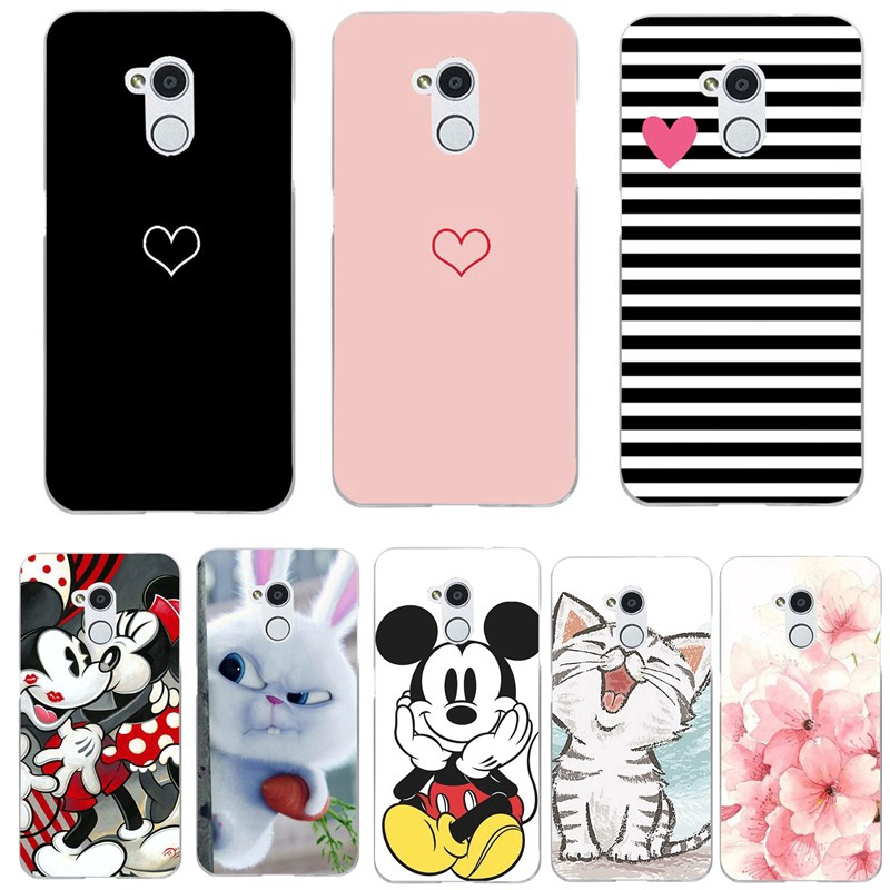 Silicone ZTE Blade V7 Lite Case Cartoon Animal Floral Soft TPU Case Cover Painted Casing