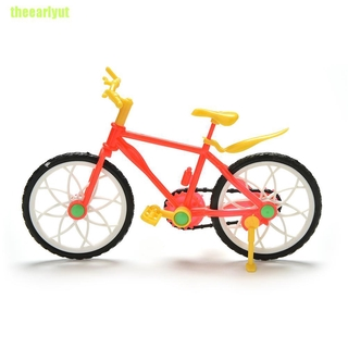 theearlyut 1 Pcs Creative Red Yellow Mountain Bike for Barbies Dolls