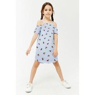 Váy đầm bé gái 2 dây hở vai từ 5-14 tuổi thun cotton mềm dễ thương mặc nhà mặc đi chơi đi biển đều được hàng xuất xịn