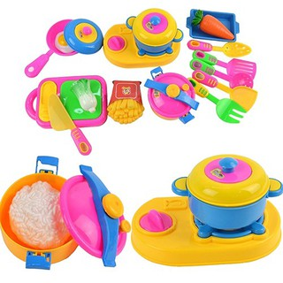 17Pcs Baby Children Early Educational Tool Simulation Kitchenware Tableware Toys