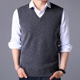 Áo gi-lê len cổ v kiểu dáng đơn giản hợp thời trang dành cho nam trung niên