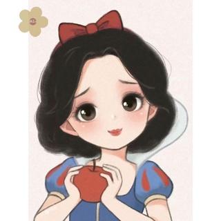 MIAON Full Embroidery Cartoon Princess Stamped Canvas 11CT DIY Cross Stitch Kits