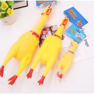 Đồ chơi gà bóp kêu Shrilling Chicken size 17cm, 32cm, 42 cm shop matna798