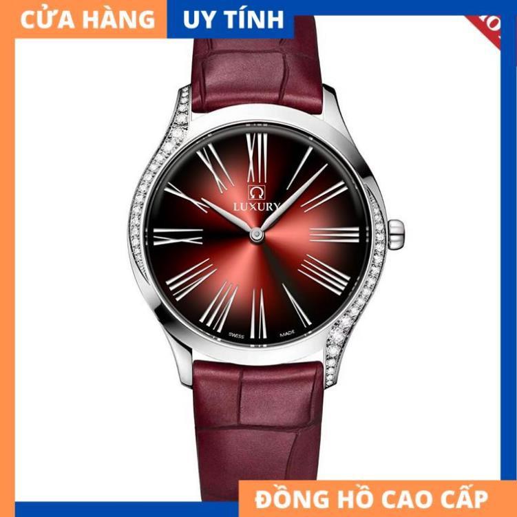 Đồng hồ Nữ LUXURY OME - Dây Da Thật Cao Cấp  - Bảo Hành 12 Tháng Toàn Quốc [HÀNG XỊN]