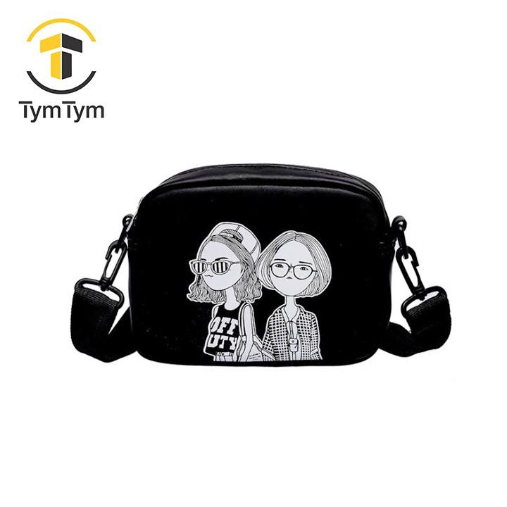 Túi hộp đeo chéo TYMTYM hình cô gái TT-1972-TXN54