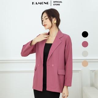 Áo blazer nữ tay dài KAMONG phong cách công sở. thumbnail