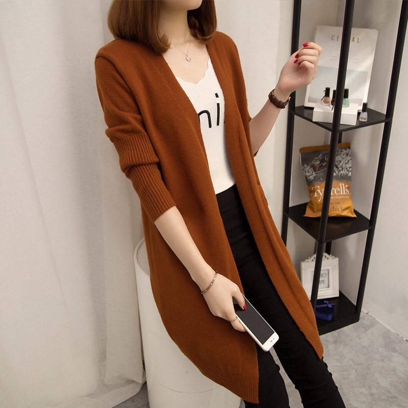 Women's Sweaters in Long Sweaters Women's Cardigan Loose Slim Fashion