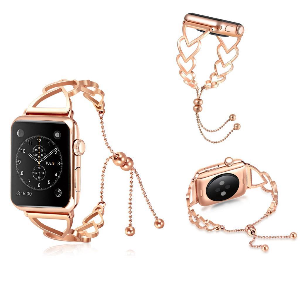 Dây đeo thép không gỉ xinh xắn cho đồng hồ thông minh Apple Series 1/2/3/4 38/42/40/44MM