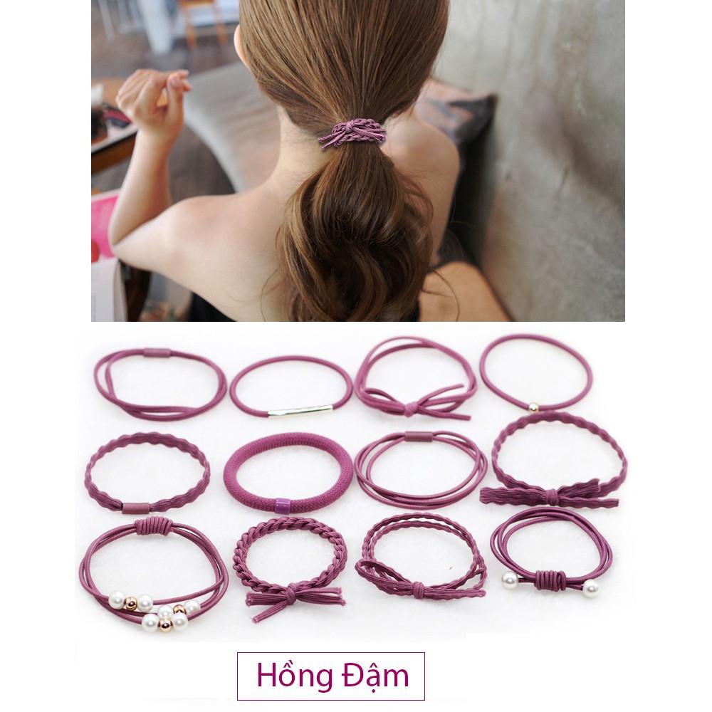 FREESHIP 99K TOÀN QUỐC_Sét 12 dây chun,dây nịt,dây thun buộc tóc(ko hộp)