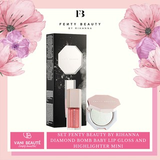 Set FENTY BEAUTY BY RIHANNA Diamond Bomb Baby Lip Gloss and Highlighter Mini thumbnail