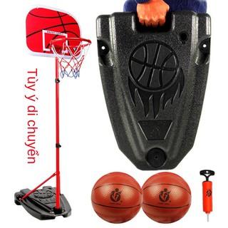 Giá đỡ bóng rổ trẻ em gắn phía sau có thể nâng lên và hạ xuống Giỏ tập bắn trong nhà ngoài trời Khung đồ chơi thumbnail