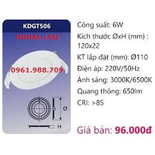 Đèn led âm trần 6w – Duhal KDGT506