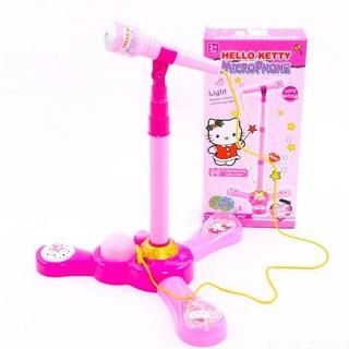 Microphone hát đơn Hello Kitty bé tập làm ca sĩ[Tmarkvn]