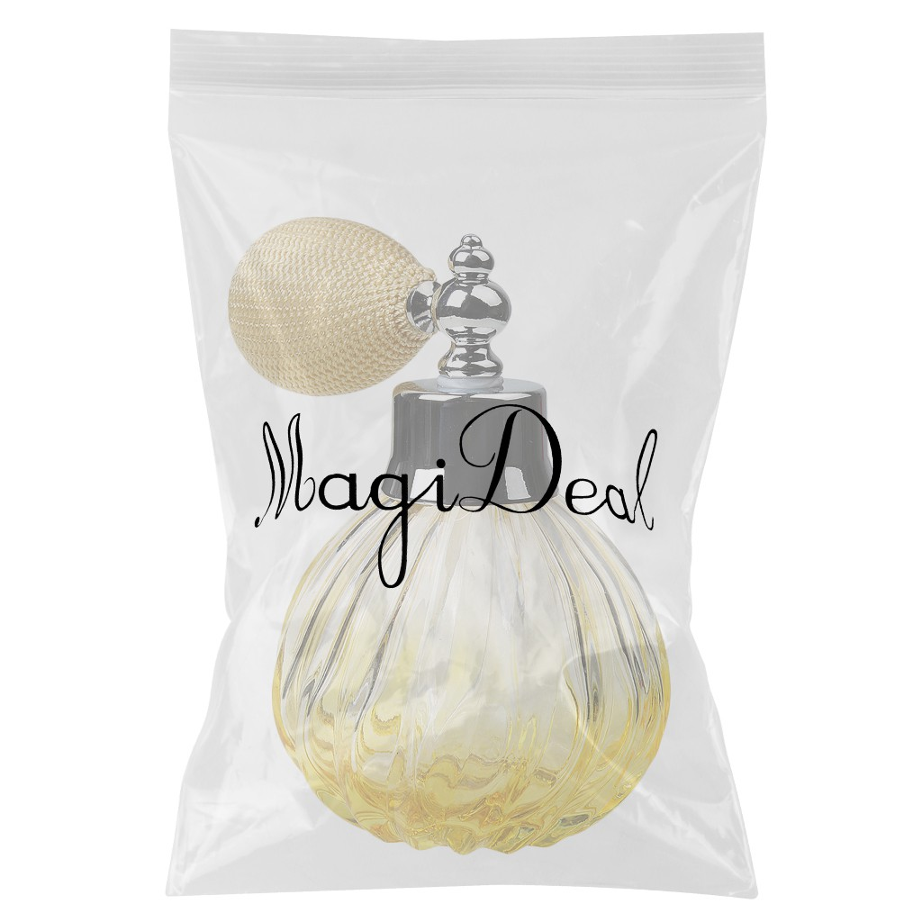 Refillable Glass Perfume Bottle Short Atomizer Perfume Spray 100ml