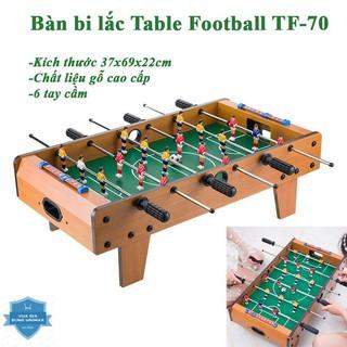 (Hàng sẵn) Bàn bi lắc bóng đá Table Top Football TTF-69 bằng gỗ 70x40cm chất liệu gỗ cao cấp thumbnail