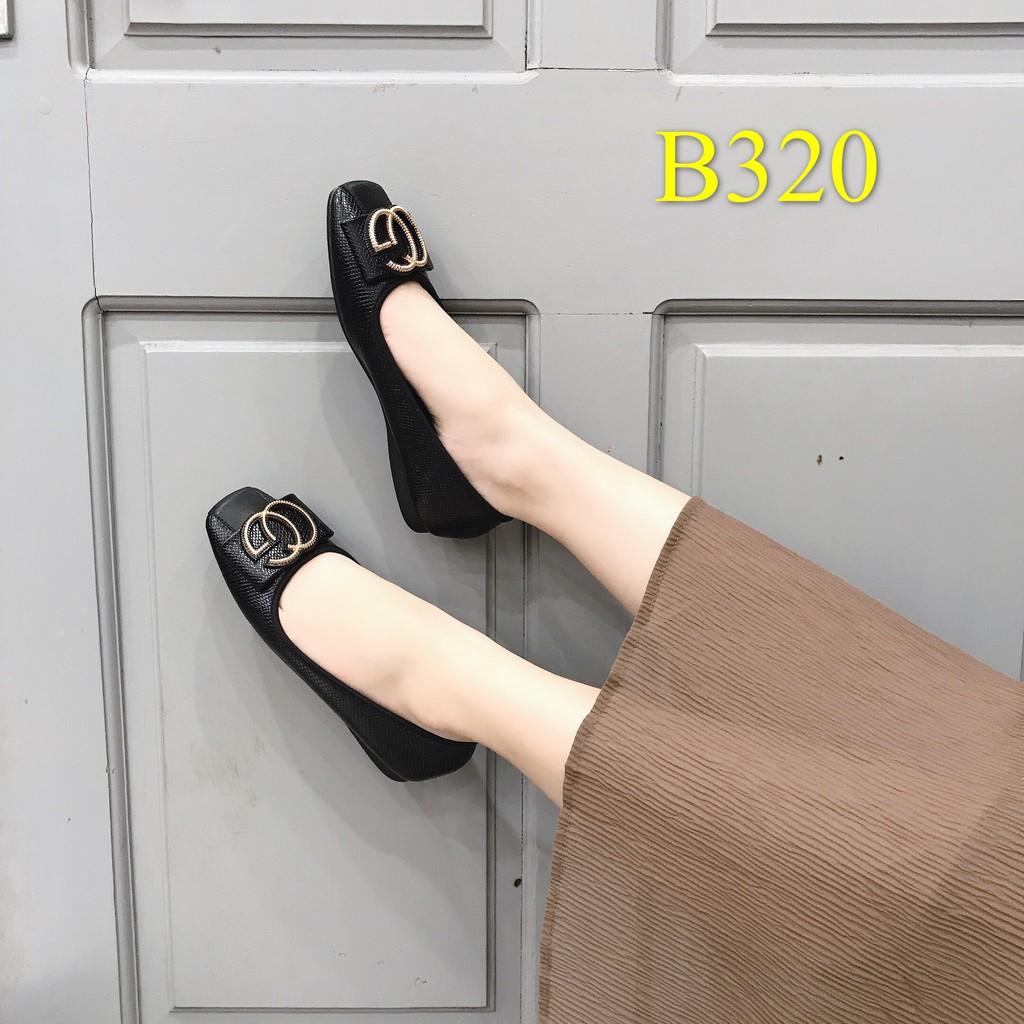 Giày bệt nữ da lì siêu đẹp - B320
