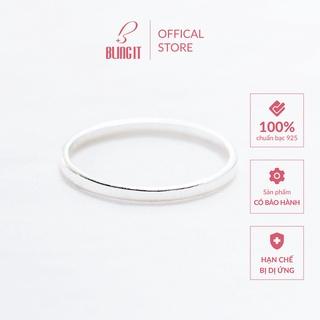 Nhẫn bạc 925 có kèm hộp đựng cao cấp Bling It phong cách đơn giản kiểu dáng trơn basic BIN097 thumbnail