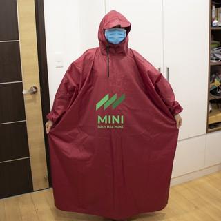 Áo mưa bít kín không xẻ tà vải dù cao cấp (Áo mưa chui)