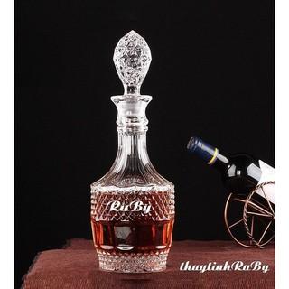 Bình Rượu Kim Cương Hình Tháp 1000ML, vỏ chai rượu đẹp