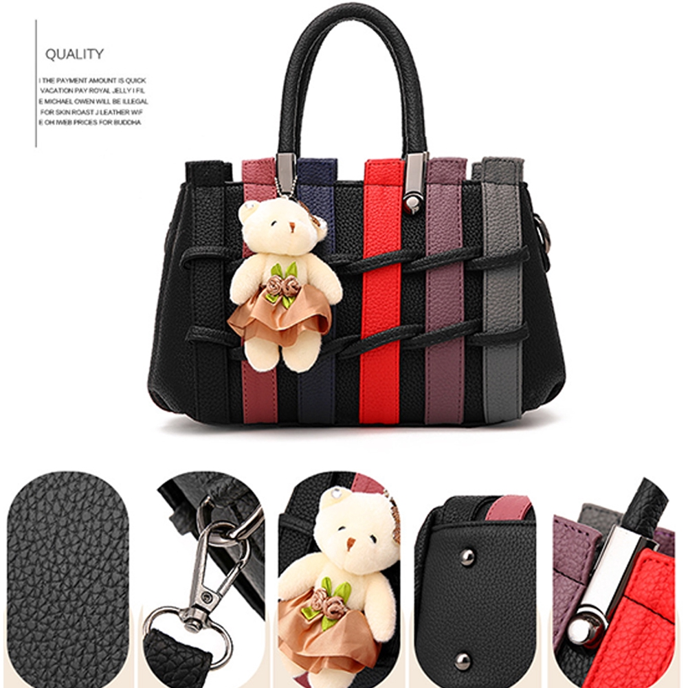 Storage Gift PU Leather Fashion Makeup Adjustable Large Capacity Casual One Shoulder Women Handbag