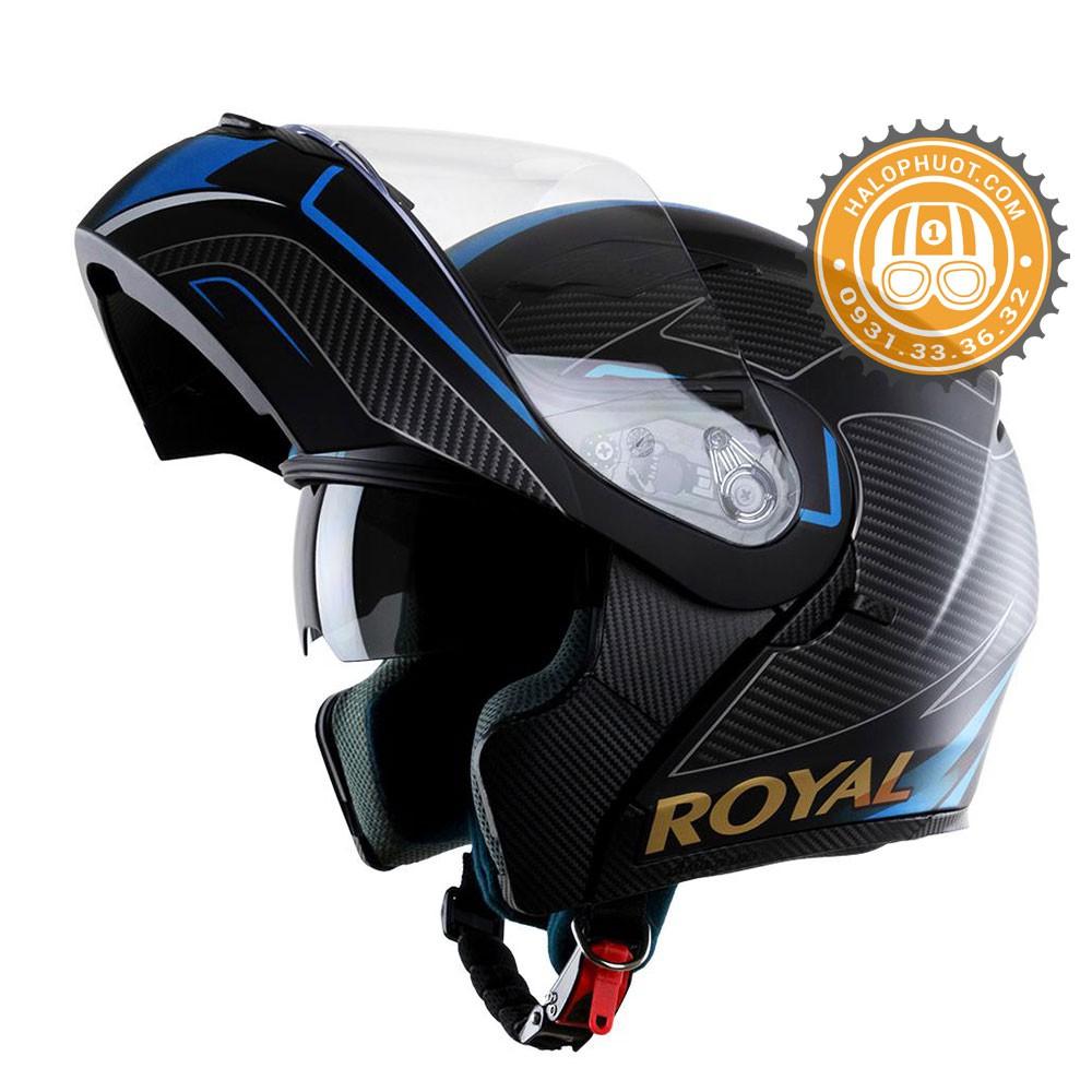 Nón bảo hiểm Fullface Lật hàm 2 kính Royal M179 tem V2 Xanh (Tặng balo rút) - 22376456 , 2910058305 , 322_2910058305 , 169000 , Non-bao-hiem-Fullface-Lat-ham-2-kinh-Royal-M179-tem-V2-Xanh-Tang-balo-rut-322_2910058305 , shopee.vn , Nón bảo hiểm Fullface Lật hàm 2 kính Royal M179 tem V2 Xanh (Tặng balo rút)