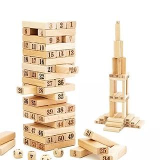 Bộ đồ chơi rút gỗ 54 thanh vui nhộn – Đồ chơi giải trí Tọ Tọ Toys