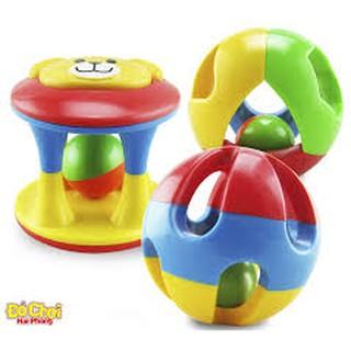 Bộ 3 lục lạc xúc xắc quả bóng cho bé