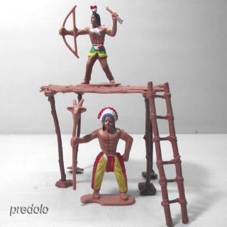 1 Set People Figures Wild West Indian Model Cowboy Kids Scene Props