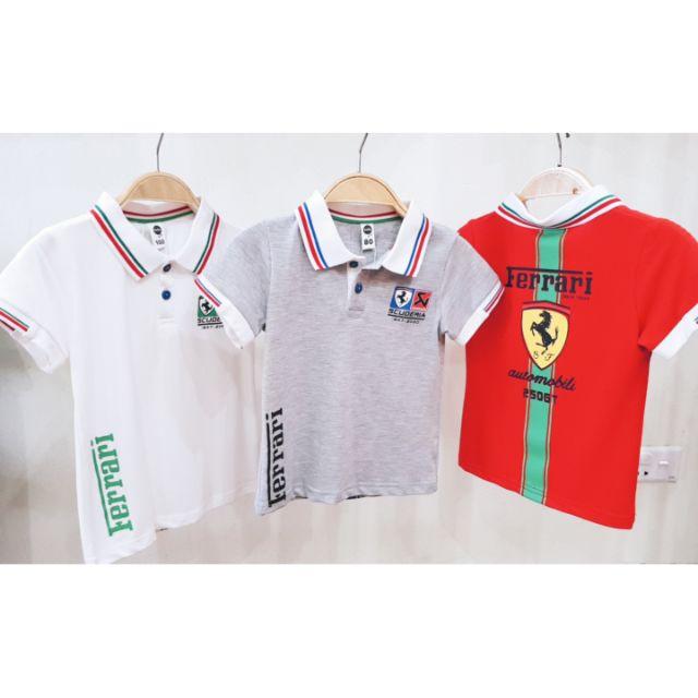 Áo phông Polo cộc tay có cổ phong cách thể thao cho bé trai 2-5 tuổi (80cm-110cm) 3 màu