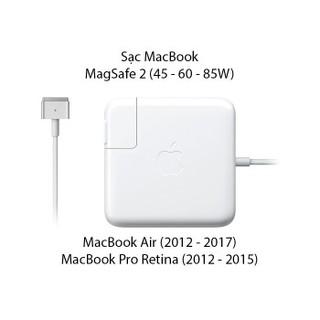 Sạc Macbook Pro Magsafe 2 16.5V – 3.65A – 60W – Loại Xịn