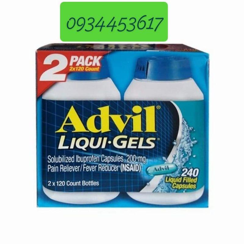 tinh chất Advil_liqui_gels 120 viên ( đủ bill)