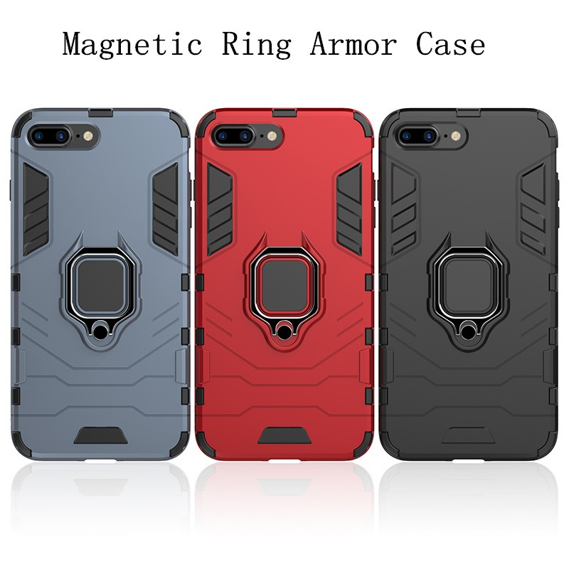 Ốp lưng cứng chống sốc dành cho iPhone 8 7 6s 6 plus 5s 5G 5C X XR XS MAX 11 PRO MAX Ring Holder Stand Bracket Case