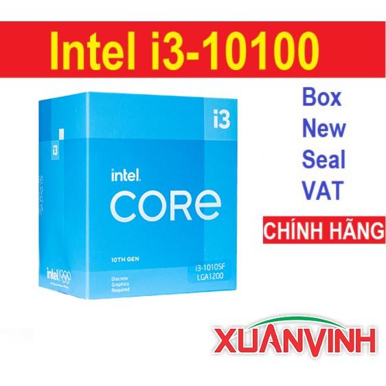 CPU Intel Core i3-10100 i3 10100F 4 Nhân 8 Luồng 3.6GHz New Box Seal Chính Hãng