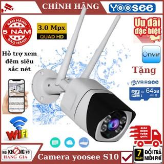 Camera wifi ngoài trời yoosee S10 , độ phân giải 3.0 Mpx , đàm thoại 2 chiều , cảnh báo chuyển động.