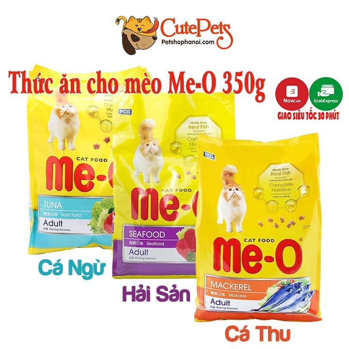 Thức Ăn cho mèo Me-O Adult 350g Vị Hải sản Cá Ngừ Cá thu Hạt cho mèo trưởng thành - Cutepets