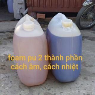 hóa foam PU 2 thành phần AB keo nở bọt cách âm cách nhiệt, bảo ôn giàn lạnh ( combo 10kg)