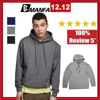 Áo Hoodie Nam Vải Nỉ Cotton Đẹp Chất Dài Tay Form Rộng Hàn Quốc 1 Màu XÁM Trơn Đủ Màu Đủ Size M L XL 2XL