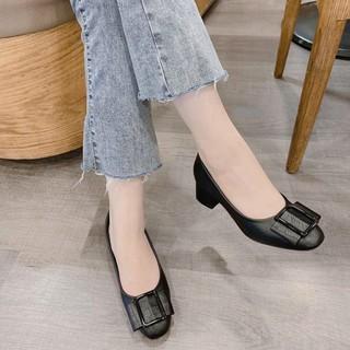 Giày cao gót khóa vuông ôm chân mã S117 thumbnail