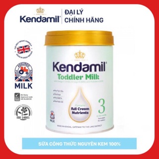 Combo 2 lon sữa Kendamil 3 - lon 900g ( date 01 2022 )