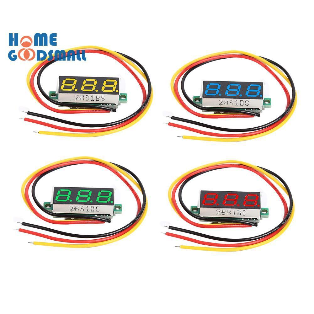 Vôn kế mini 3 dây DC 0-100V màn hình LED 0.28 Inch tiện lợi